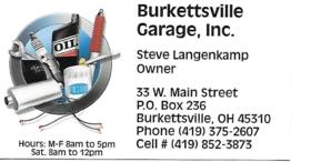 Burkettsville Garage
