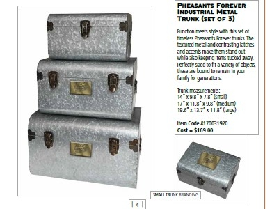 Industrial Metal Trunk Set of 3