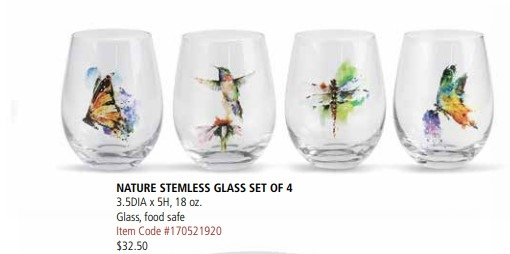 Nature Stemware Set of 4