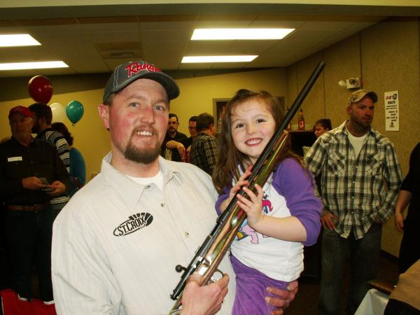 Father and daughter at the 2015 PF banquet in Helena