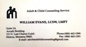 Bill Evans - Adult & Child Counseling Services