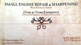 Doug Williams - Small Engine Repair & Sharpening