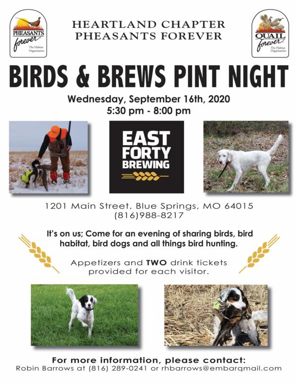 Birds & Brews Pint Night