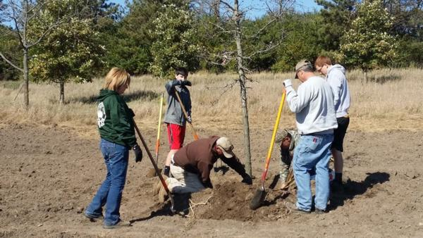 Savanna Grassland Tree Planting Project at Squaw Creek Park - 2016