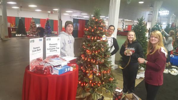 Linn County PF Festival of Trees decorated tree.  Proceeds of the silent auction go towards non profit organizations supported by the Local JayCees.  Thanks to the Corridor Clay Crushers College Trap team with student athletes from Mt Mercy University and Kirkwood Community College.
