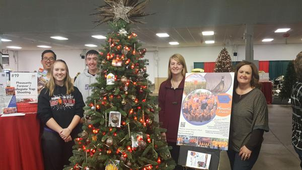 Pheasants Forever Tree Display at the Cedar Rapids Festival of Trees