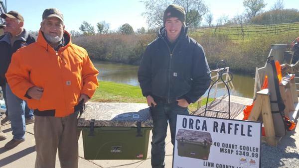 Ocra Cooler Raffle with Cedar Rapids Collegiate Trap Team