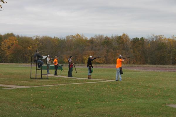 Members of the Corridor Clay Crushers teamat the 2017 October Corridor Clay Crushers tournament - 2nd Annual Pheasants Forever shootout hosting 9 collegiate trap teams at Otter Creek in Cedar Rapids Iowa