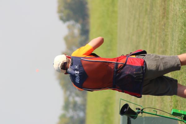 Hunter Gehrke / coach & student athlete the 2017 October Corridor Clay Crushers tournament - 2nd Annual Pheasants Forever shootout hosting 9 collegiate trap teams at Otter Creek in Cedar Rapids Iowa
