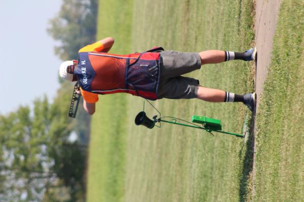 Hunter Gehrke / student athlete & coach at the 2017 October Corridor Clay Crushers tournament - 2nd Annual Pheasants Forever shootout hosting 9 collegiate trap teams at Otter Creek in Cedar Rapids Iowa