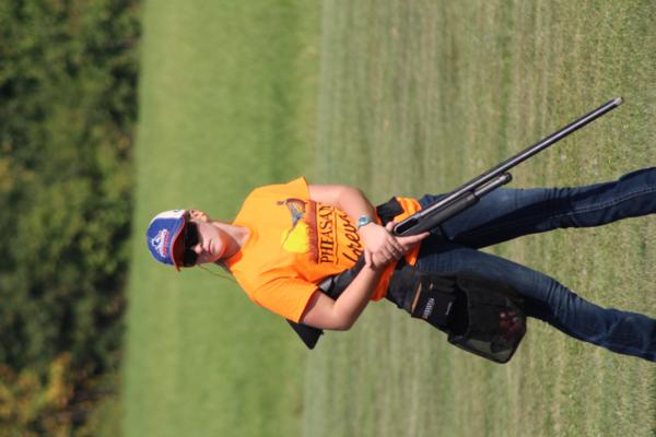 student athlete the 2017 October Corridor Clay Crushers tournament - 2nd Annual Pheasants Forever shootout hosting 9 collegiate trap teams at Otter Creek in Cedar Rapids Iowa