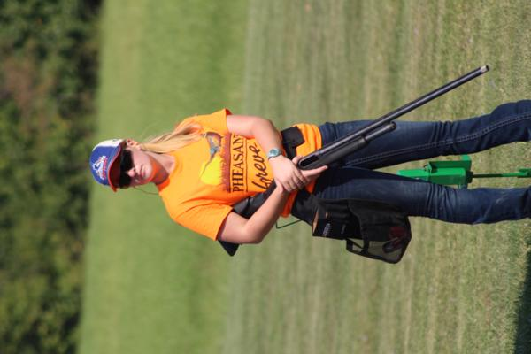 Emily Luzum  / student athlete the 2017 October Corridor Clay Crushers tournament - 2nd Annual Pheasants Forever shootout hosting 9 collegiate trap teams at Otter Creek in Cedar Rapids Iowa