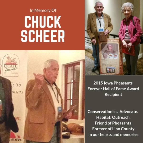 In Recognition of 2015 Hall of Fame Winner Chuck Scheer
