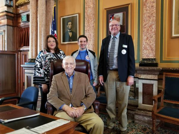 Iowa State Capitol Natural Resources and Outdoor Recreation Trust Fund Advocacy	(February 2018) Forrest Kramer image