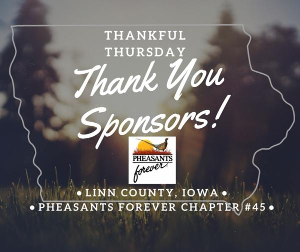 Thanks to Sponsors for contributions to the 2018 Linn County PF Banquet