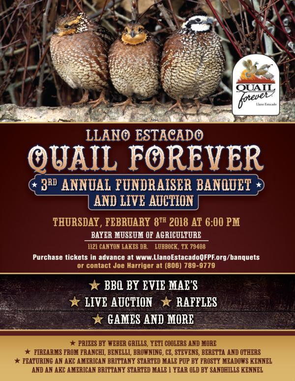 3rd Annual Banquet and Live Auction