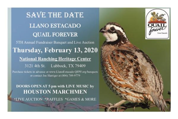 Llano Estacado Quail Forever Chapter Banquet
