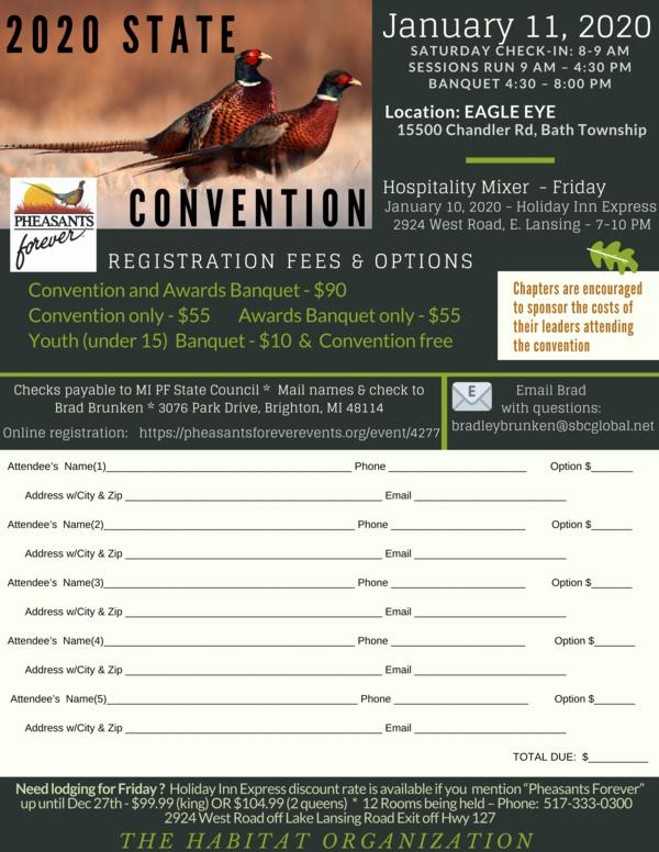 2020 State Convention & Banquet