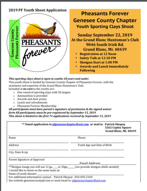 Genesee County PF Youth Sporting Clays Shoot