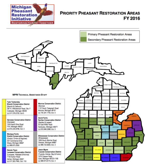 Priority Pheasant Restoration Areas Initiative