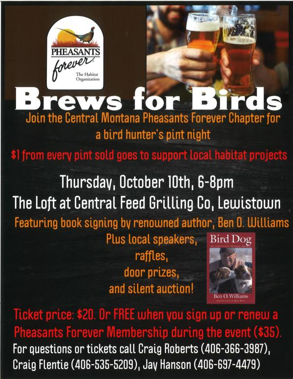 Brews for Birds - Lewistown, MT