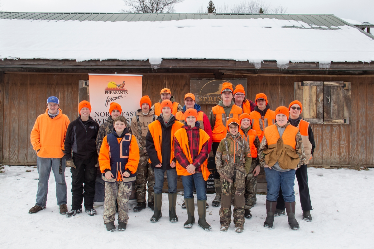 1-19-21 Youth Learn to Pheasant Hunt at Springer Creek Loddge