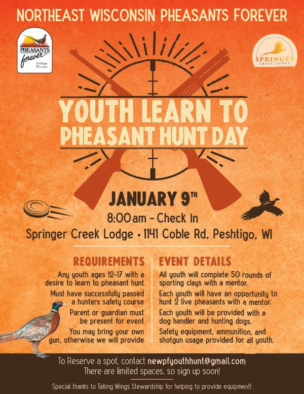 Youth Learn to Pheasant Hunt Day