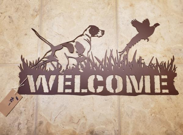 Pheasant Flush Welcome Sign