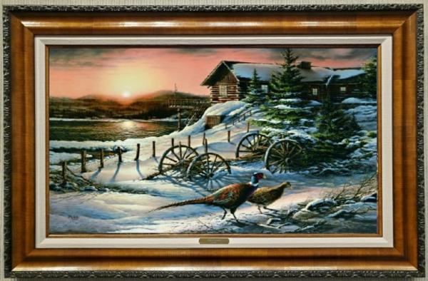 Peaceful Evening - Terry Redlin print awarded to second ticket drawn