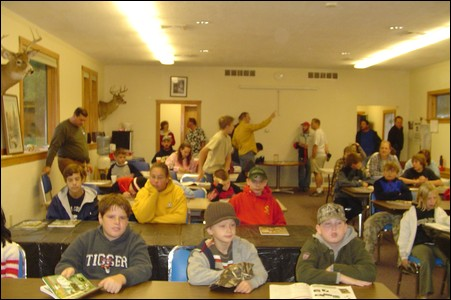 Hunter's Safety students at the INGHAM County Conservation District classroom