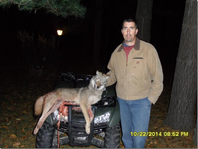 <p>Jimmer and his bow coyote</p>