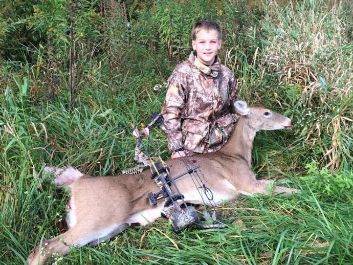Will with his first bow kill