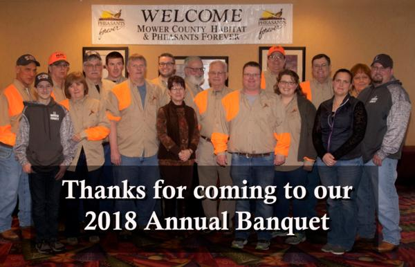2018 Mower County Habitat & Pheasants Forever Annual Banquet