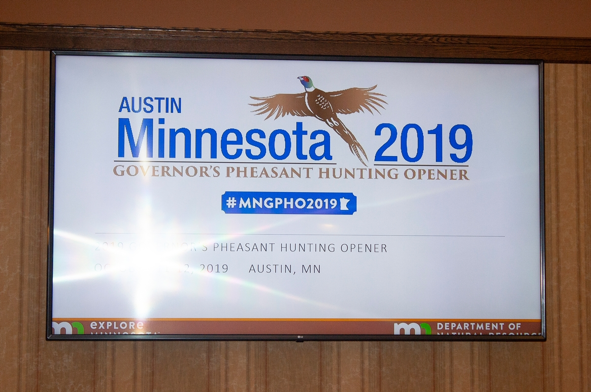2019 Minnesota Governor's Pheasant Hunting Opener - Land Owner - Hunter Host - Banquet