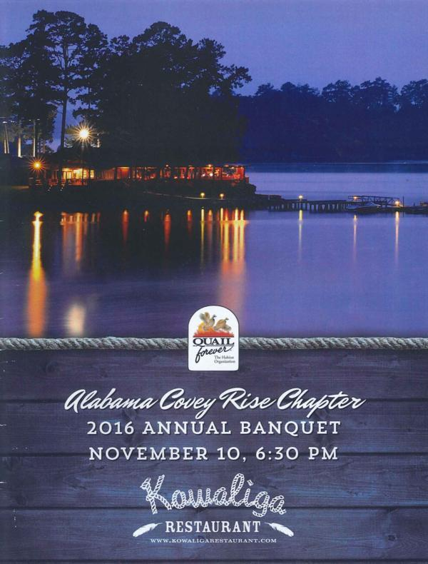 Alabama Covey Rise Chapter of Quail Forever Banquet Highlights