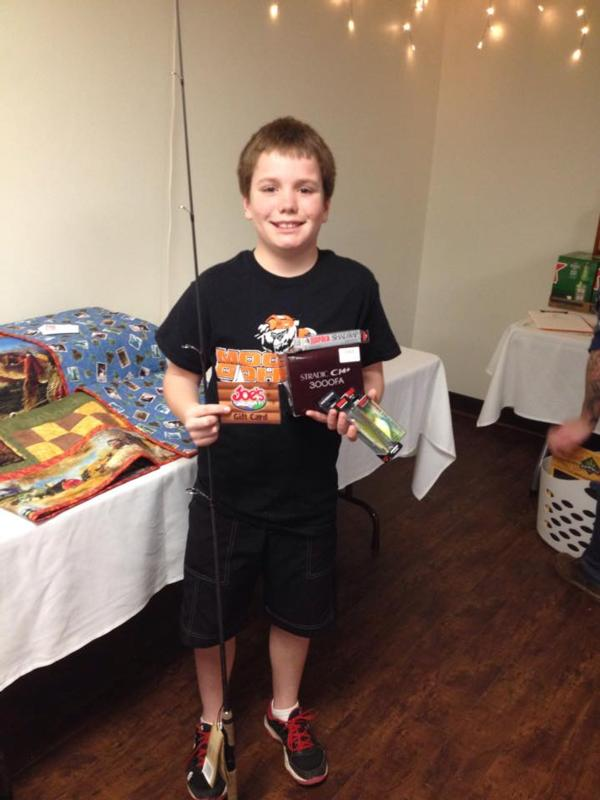 Adam Rausch won a fantastic rod/reel, lures and a gift card from Joe's Sporting Goods!