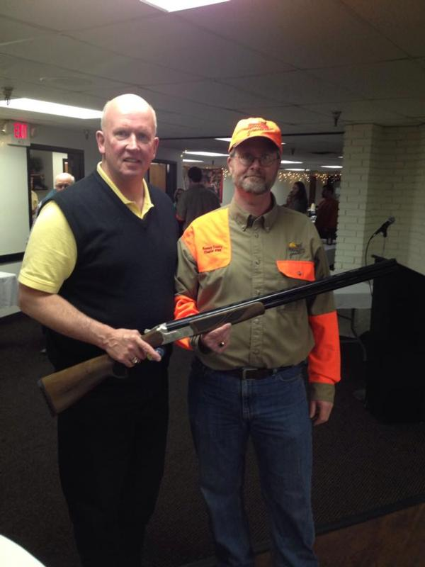 Daniel Naumann is ready to go shoot clays with this beatiful 20ga Pointer O/U from Legacy!