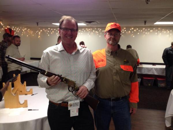 Mike Guggenberger is the happy winner of this beatiful Henry .22 rifle!