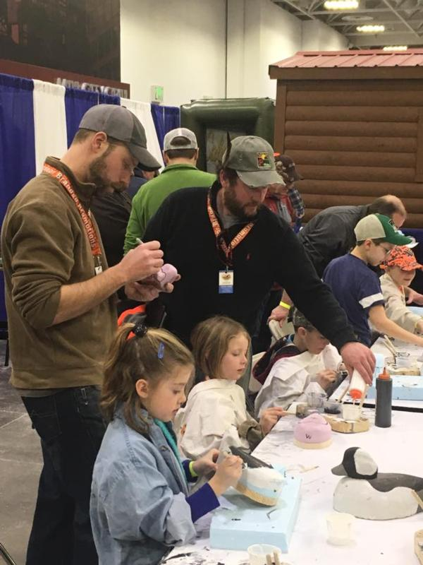 RCPF Helps Youth Carve Decoys at Pheasant Fest.
