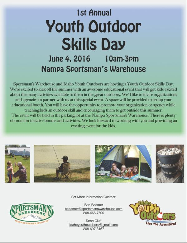 Youth Outdoors Skills Day