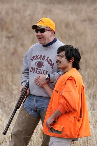 Chris Erickson (left) and one of the hunters