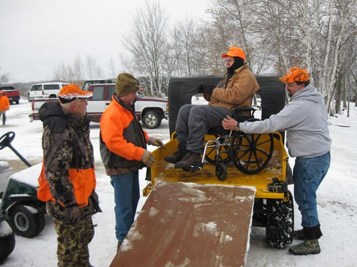 Loading up one of the hunters