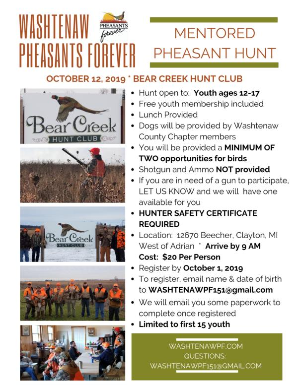 Annual Mentored Hunt