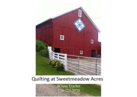 Quilting at Sweetmeadow Acres